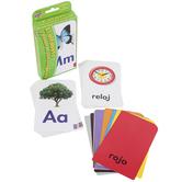 Spanish Alphabet and Picture Words Pocket Flash Cards, Grades PreK-5