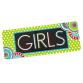 Isabella Collection, Girls Hall Pass, 3 x 6 Inches, Bright Multi-Colored