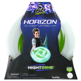 Toysmith, NightZone Horizon Light Up Disc, Green & Clear, 10 inches