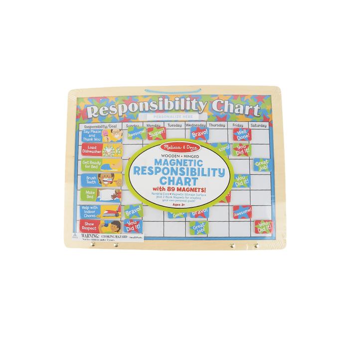 Positive Reinforce Melissa /& Doug My Magnetic Responsibility Chart 90 Magnets 3