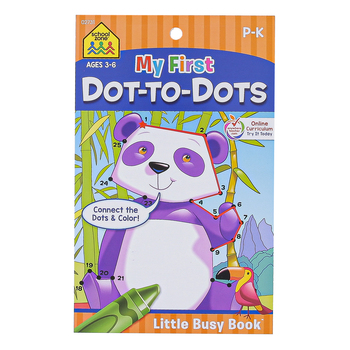 Little Busy Book, My First Dot-To-Dots Workbook, 48 Pages, 5.37 x 8.50 Inches, Grades K-1