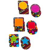 Chalk Talk Collection, 2-Sided Large Cutouts, 6 Inches, 6 Assorted  Multi-Colored Designs, 36 Pieces