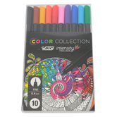 Bic, Color Collection Intensity Fineliner Pens, 1 Each of 10 Colors, 0.4 millimeter Tip