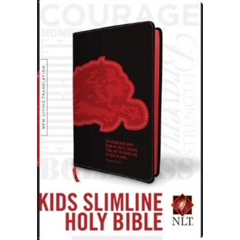 NLT Kids Slimline Bible, Duo-Tone, Black and Red