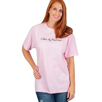 Red Letter 9, I Love My Husband, Women's Short Sleeve T-Shirt, Pink, S-2XL