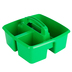 Storex, Small Caddy, Green,  3 Compartments, Plastic, 9.25 x 9.25 x 5.25 Inches, 1 Piece