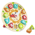 Hape, Chunky Clock Puzzle, Wood, 9 1/2 inches, 13 Pieces, Ages 3 & Older