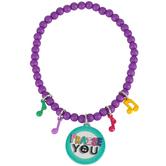 Glitter and Grace, Psalm 150:6 Praise You Stretch Charm Bracelet, Purple