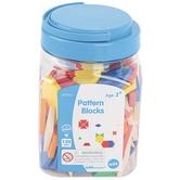 Pattern Blocks Mini Jar Set, 120 Pieces, Grades PreK-8