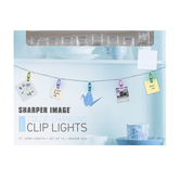 Sharper Image, Battery Operated Color Change LED Clip Lights, Clear, 15 feet