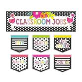 Schoolgirl Style, Simply Stylish Tropical Classroom Jobs Mini Bulletin Board Set, 44 Pieces