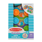 Melissa & Doug, First Play Wooden Animal Stacking Cars, Ages 9 Months and Older