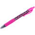 Pilot, G2 Retractable Gel Roller Pen with Rubber Grip, Fine Point, Polka Dots Pink, 1 Each