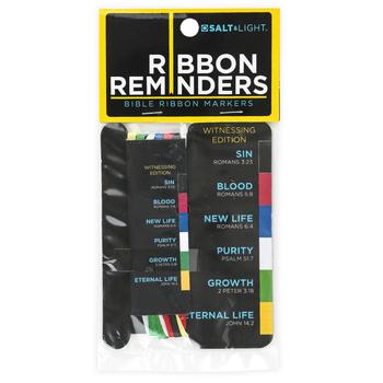 Salt & Light, Bible Ribbon Markers, Witnessing Edition, 6 Ribbons