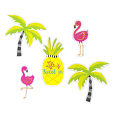 Schoolgirl Style, Simply Stylish Tropical Life Is Sweet Bulletin Board Set, 25 Pieces