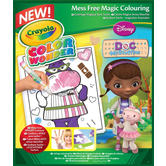 Crayola, Mess Free Color Wonder Doc McStuffins Coloring Pad, Ages 3 Years and Older, 6 Pieces