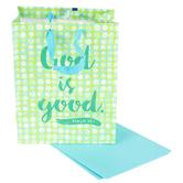 DaySpring, God is Good Gift Bag, Green, Medium