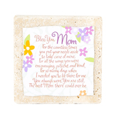 Product Concept Manufacturing, Bless You Mom Tile Plaque, 4 x 4 inches