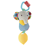 Skip Hop, Elephant Bandana Buddies Chime & Teethe Toy, 2 x 6 inches