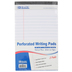 Bazic Products, Perforated Writing Pads, White, 5 x 8 inches, Set of 3, 150 Sheets Total