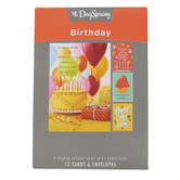 DaySpring, Celebrating You Boxed Birthday Cards, 12 Cards with Envelopes