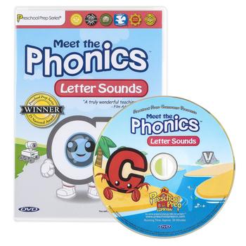 Preschool Prep Company, Meet the Phonics: Letter Sounds DVD, 40 Minutes, Grades PreK-1