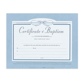 Broadman Church Supplies, Certificate of Baptism, 11 x 8 1/2 inches, Set of 6