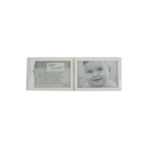 Grandparent Gift Co., First Grandchild Double Photo Frame, White, 5 x 13 inches