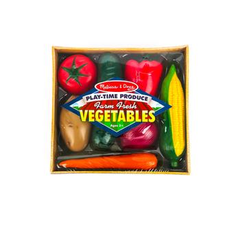 Melissa & Doug, Farm Fresh Veggies, Ages 3 to 6 Years Old, 8 Pieces