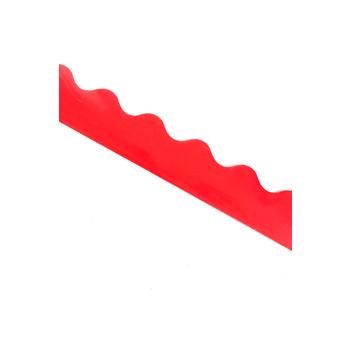 Renewing Minds, Scalloped Border Trim, 38 Feet, Red