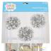 Bright Ideas, Foil Pom Poms, Metallic Mylar, Silver, 16 1/2 Inches, 3 Count