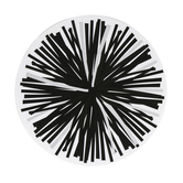 Schoolgirl Style, Simply Stylish Black and White Poms Large Cut-Outs, 5 1/2 Inches, 36 Pieces