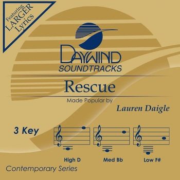 Rescue, Accompaniment Track, As Made Popular by Lauren Daigle, CD