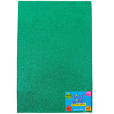 Silly Winks, Glitter Foam Sheet, Green, 12 x 18 Inches, 1 Each