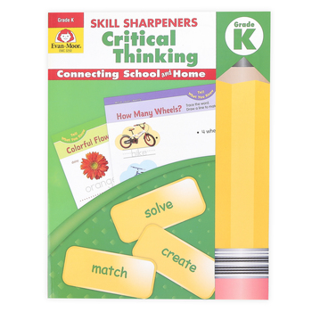 Evan-Moor, Skill Sharpeners Critical Thinking Grade K Activity Book, Paperback, 144 Pages, Grade K