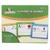 Channie's, Visual Dry-Erase Alphabet & Numbers Flash Cards Set, 36 Pieces
