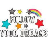 Schoolgirl Style, Twinkle Twinkle You're A STAR Follow Your Dreams Bulletin Board Set, 23 Pieces