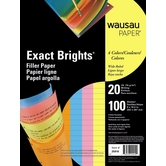 Exact Brights Filler Paper Wide Ruled