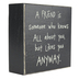 Collins Painting & Design, A Friend Is Someone Box Sign, 4 x 4 inches