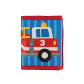 Stephen Joseph, Firetruck Tri-Fold Wallet, Ages 3 to 6 Years Old, 7 x 4 1/2 inches