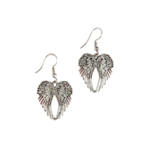 MOA International, Angel Wing Dangle Earrings, Silver Plated