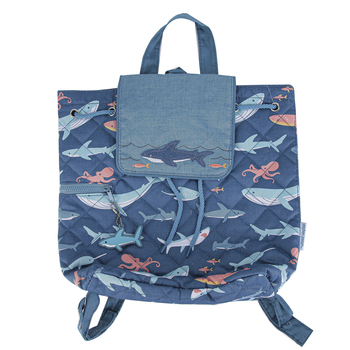 Stephen Joseph, Shark & Ocean Life Quilted Backpack, 12 x 13 1/2 inches