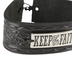 Wildflower Road, Keep the Faith Cuff Bracelet, Leather, Black