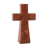 Dicksons, My First Communion Table Cross, Wood-grain, 5 inches