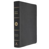 ESV Large Print Wide Margin Bible, Genuine Leather, Black