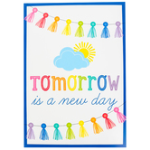 Schoolgirl Style, Tomorrow Is A New Day Motivational Poster, 13.38 x 19 Inches, 1 Piece