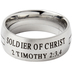Spirit & Truth, 2 Timothy 2:3,4, Soldier of Christ, Men's Ring, Stainless Steel, Size 9