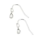 Howard's, Ear Sense, Teardrop Dangle Earrings, Silver and Clear Crystal, 1/4 Inches