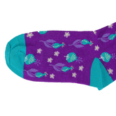 Kerusso, Amazing Grace, Unisex Crew Socks, Purple, 1 Pair, One Size Fits Most