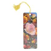 Artgame, Roses 3D Lenticular Art Tassel Bookmark, 2 1/4 x 6 inches